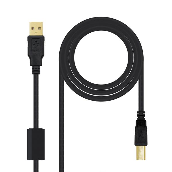 CABLES USB A-B MACHO-MACHO