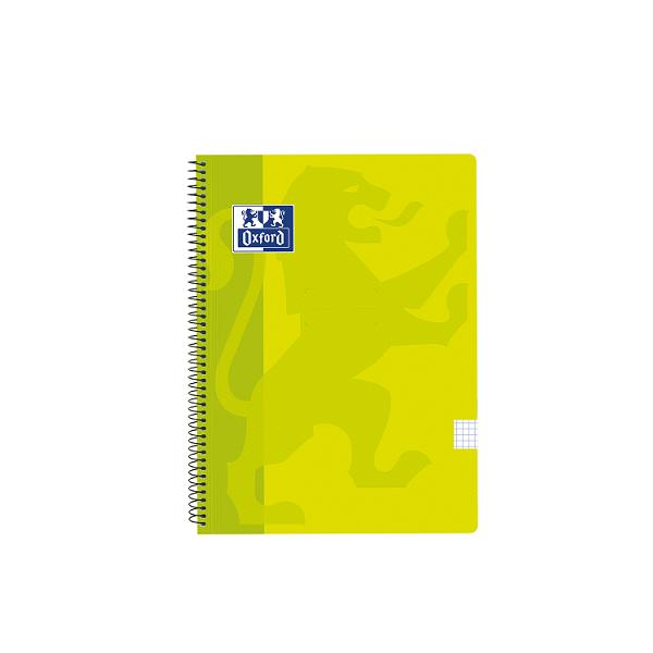 Cuaderno Oxford tapa plást. Fº 80h. 90g. 4x4 Lima