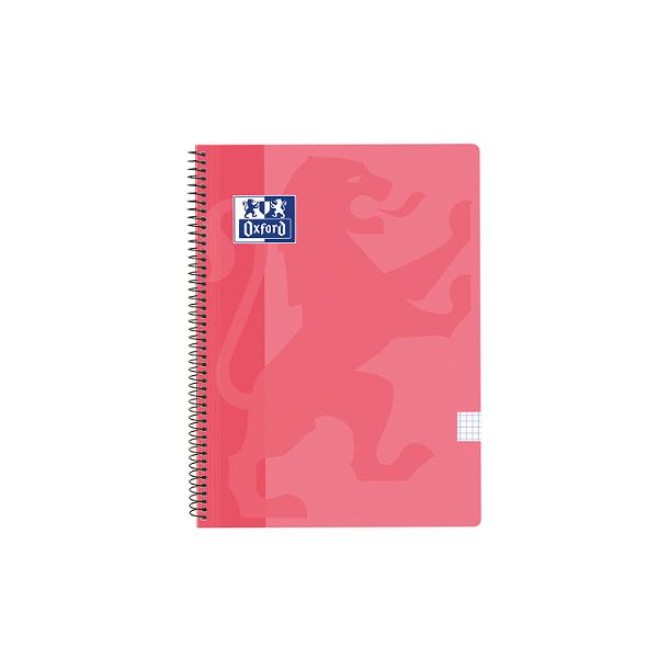 Cuaderno Oxford tapa plást. Fº 80h. 90g. 4x4 Rosa