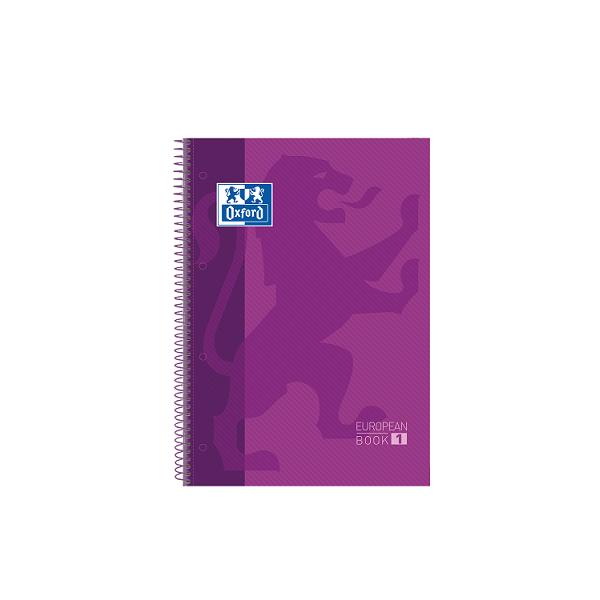 Cuaderno Oxford tapa plást. Fº 80h. 90g. 4x4 Violeta