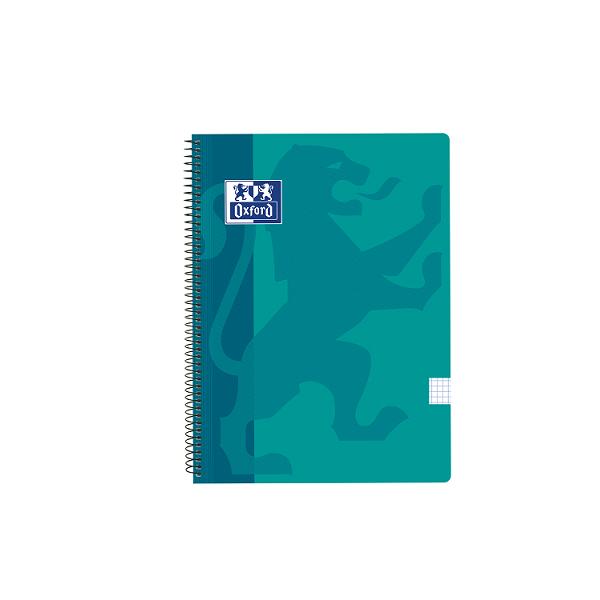 Cuaderno Oxford tapa plást. Fº 80h. 90g. 4x4 Turquesa